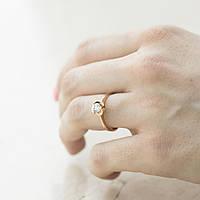 Кольцо GS  помолвочное (фианит), фото 1