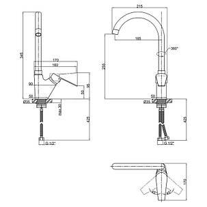 Смеситель для кухни Lidz (CRM)-20 38 012 08, фото 2