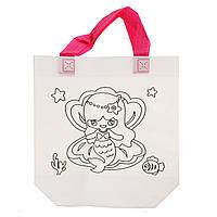 Детская сумка раскраска Русалка - эко сумка набор для раскрашивания с фломастерами, фото 1