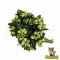 Тычинки Оливковые с ягодками и листиками 6 шт/уп на проволоке
