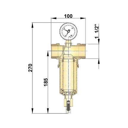 """Самопромывной фильтр Icma 1"""" 1/2х1"""" 1/4 НВ №750, фото 2"""