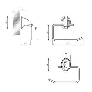 Держатель для туалетной бумаги Lidz (CRM)-113.03.03, фото 2