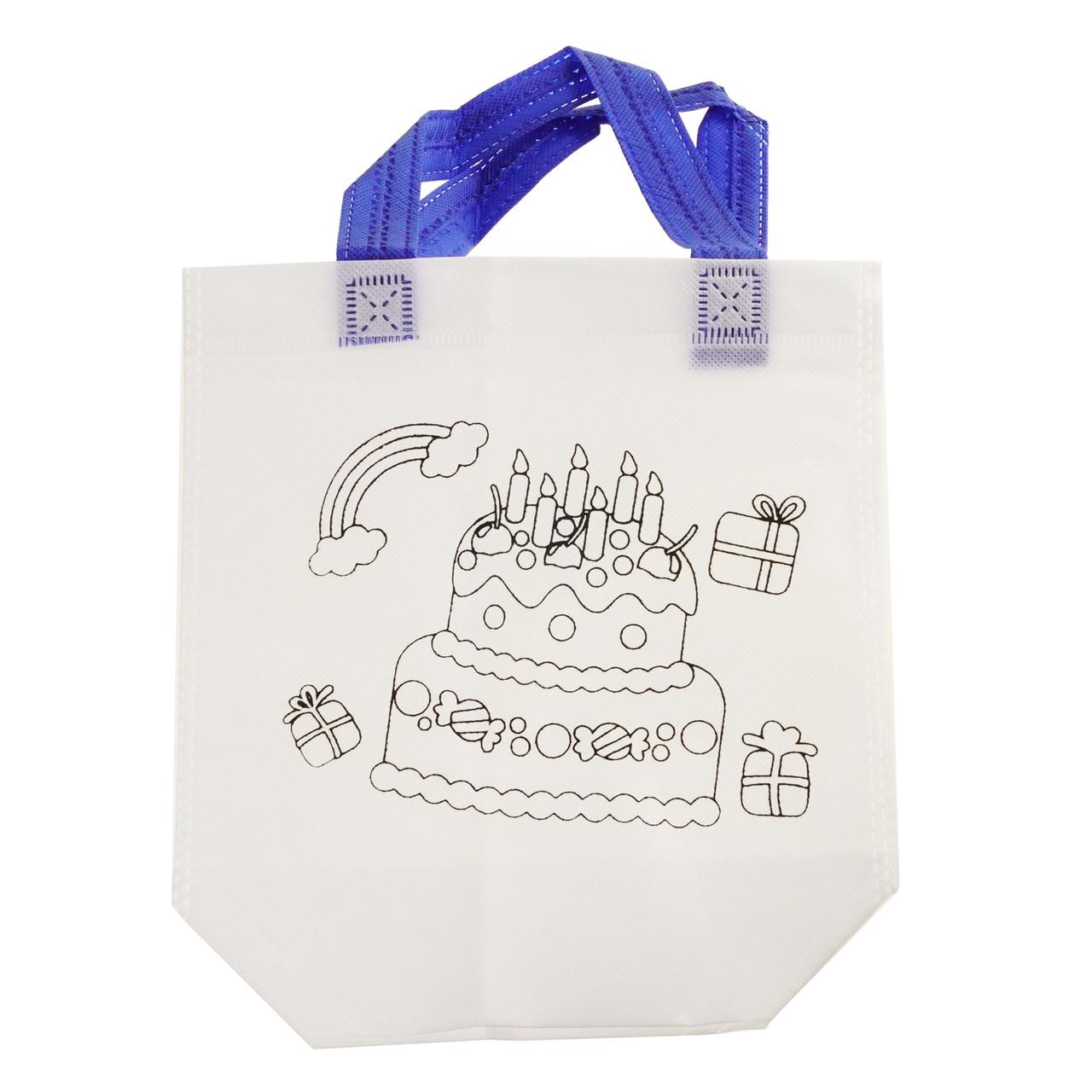 Детская сумка раскраска Торт - эко сумка набор для раскрашивания с фломастерами