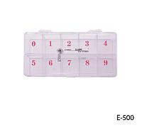 Пластмассовая тара для типс (10 секций на 500 шт.) Lady Victory LDV E-500 /22-1
