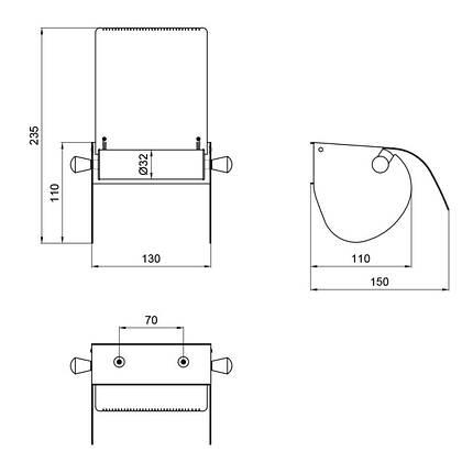 Держатель для туалетной бумаги Lidz (CRM)-121.04.02, фото 2