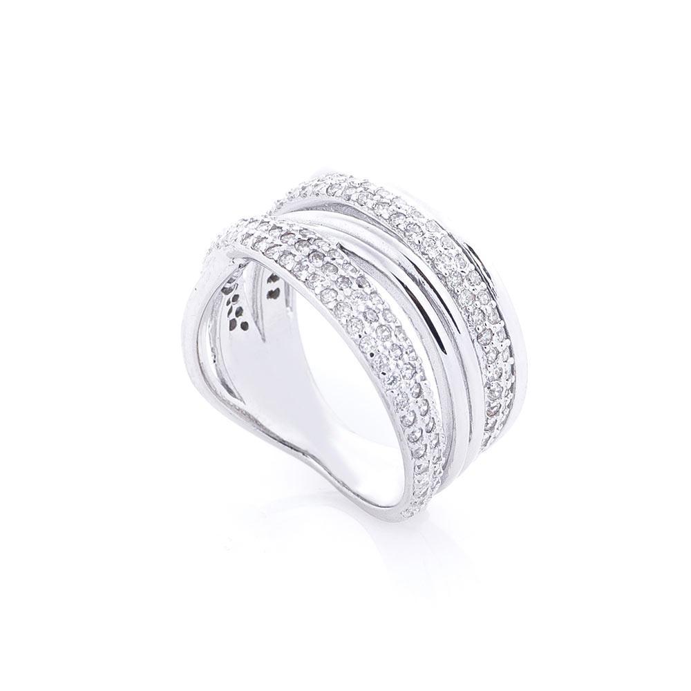 Серебряное кольцо  GS с фианитами
