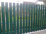 Металевий паркан напівкруглий і трапецевідний RAL 5005 (синій) глянц/грунт 0,45 мм Китай, фото 9