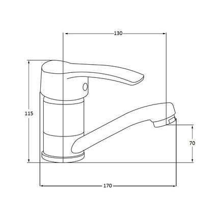 Смеситель для кухни Lidz (CRM)-20 38 002 01, фото 2