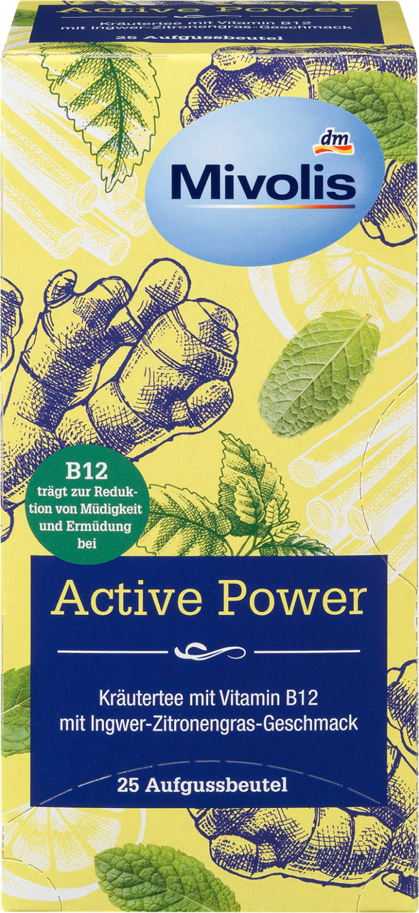 Травяной чай Mivolis Active Power mit Vitamin В12, 25 шт.