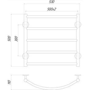 Полотенцесушитель электрический Lidz Classic (CRM) P5 500x500 RE, фото 2