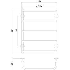 Полотенцесушитель электрический Lidz Standard (CRM) P5 500x700 LE, фото 2