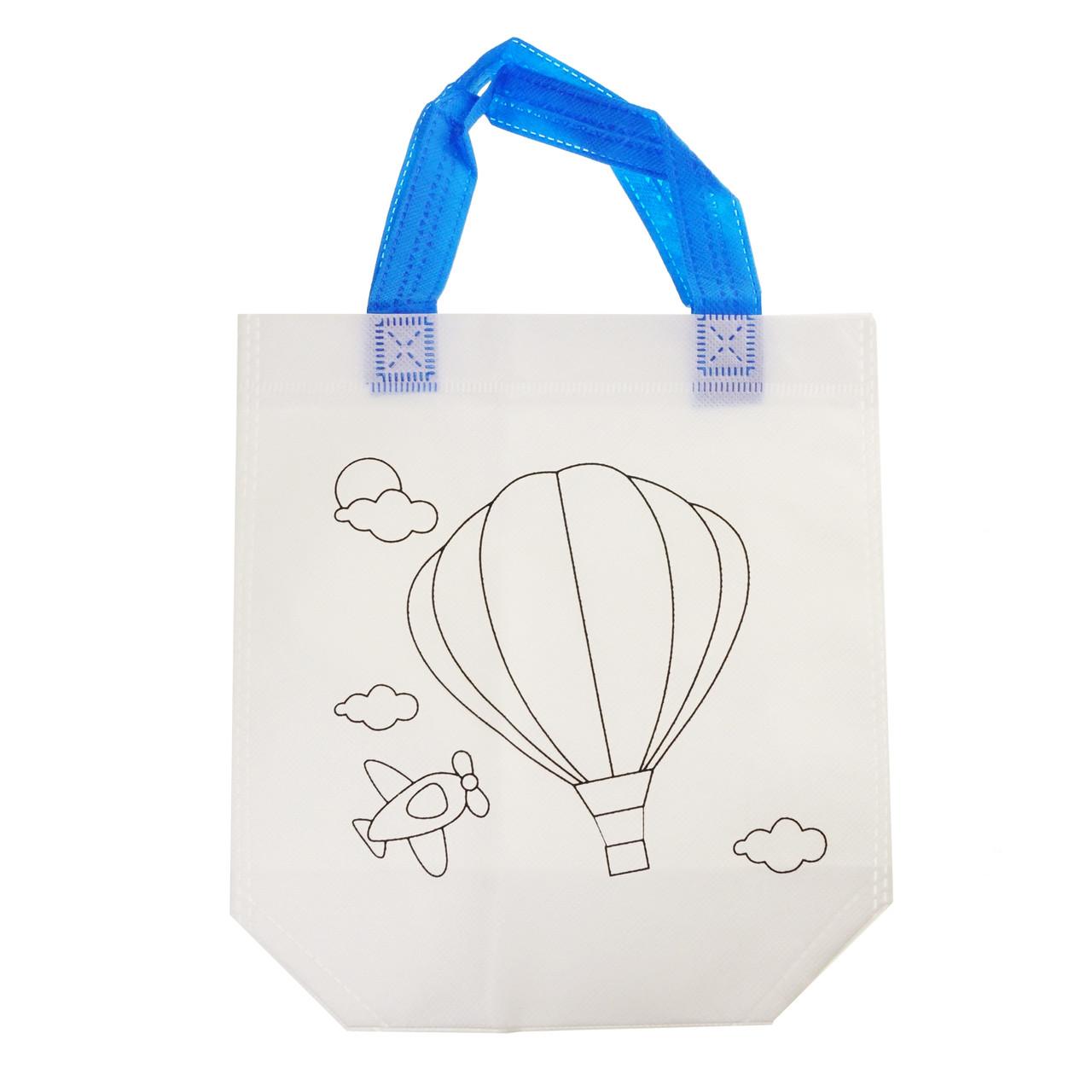 Детская сумка раскраска Воздушный шар - эко сумка набор для раскрашивания с фломастерами