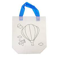 Детская сумка раскраска Воздушный шар - эко сумка набор для раскрашивания с фломастерами, фото 1
