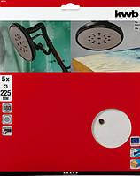 Шлифовальные круги KWB Ø 225 мм, зернистость P 180, упаковка 5 шт. (492118)