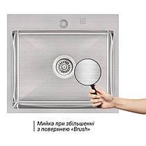 Кухонная мойка Lidz H5045 Brush 3.0/1.0 мм (LIDZH5045BRU3010), фото 3