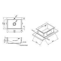 Кухонная мойка Lidz H5845 Brush 3.0/1.0 мм (LIDZH5845BRU3010), фото 2