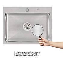 Кухонная мойка Lidz H5845 Brush 3.0/1.0 мм (LIDZH5845BRU3010), фото 3