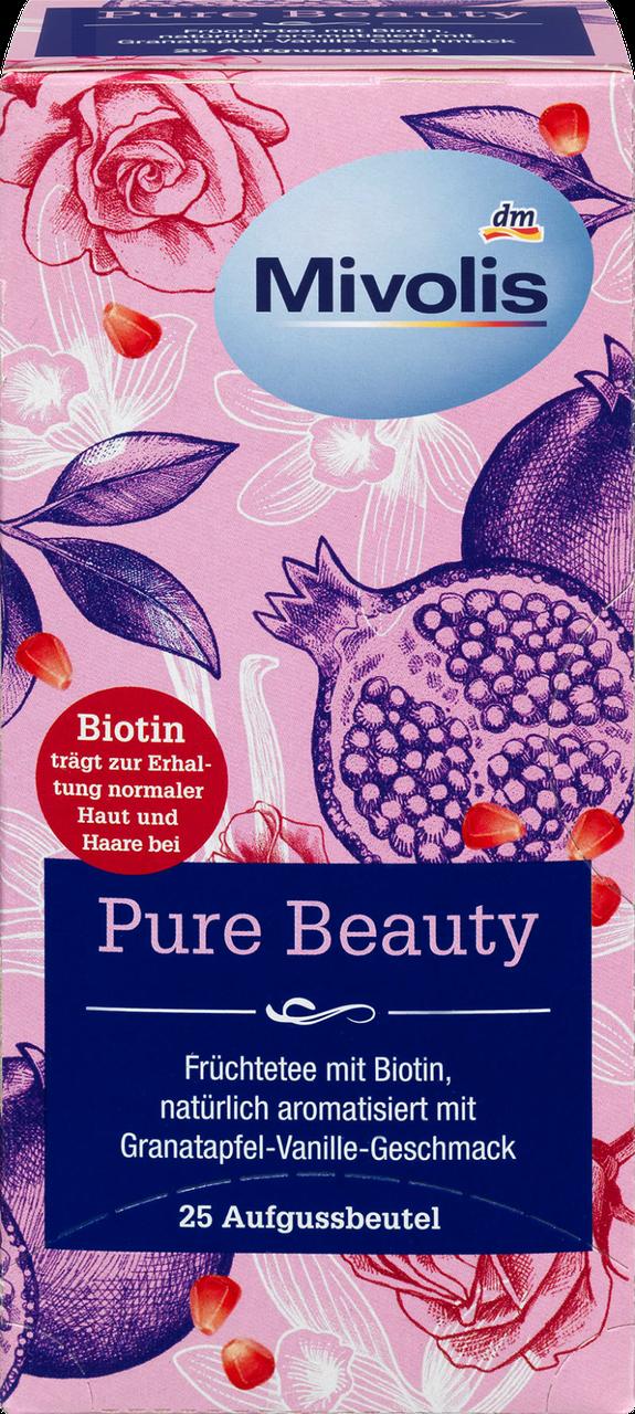 Травяной чай Mivolis Pure Beauty mit Biotin, 25 шт.