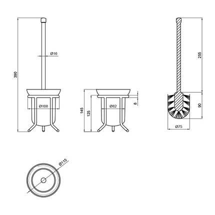 Ершик для унитаза Lidz (CRG)-121.05.04, фото 2