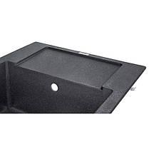 Кухонная мойка Lidz 625x500/200 BLA-03 (LIDZBLA03625500200), фото 3