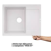 Кухонная мойка Lidz 625x500/200 WHI-01 (LIDZWHI01625500200), фото 3