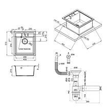 Кухонная мойка Lidz 460х515/200 GRE-04 (LIDZGRE04460515200), фото 2