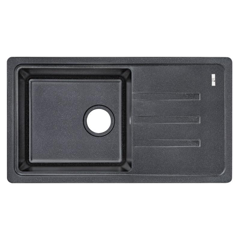Кухонная мойка Lidz 780x435/200 BLA-03 (LIDZBLA03780435200)