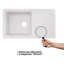 Кухонная мойка Lidz 780x435/200 WHI-01 (LIDZWHI01780435200), фото 3