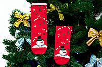 🎄 Красные новогодние носки со снеговиком 36-41 размер Золото, фото 1