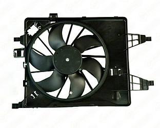 Вентилятор радиатора в диффузоре (385 mm) на Renault Kangoo II 2008-> - Polcar - 606223W1