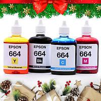 Чернила для Epson L355 (epson_4x100_46) Комплект чернил для EPSON (664) B/C/M/Y INCOLOR (4х100 мл)