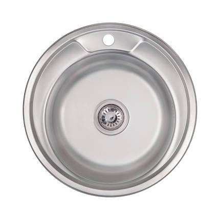 Кухонная мойка Lidz 490-A Satin 0,6 мм (LIDZ490A06SAT), фото 2