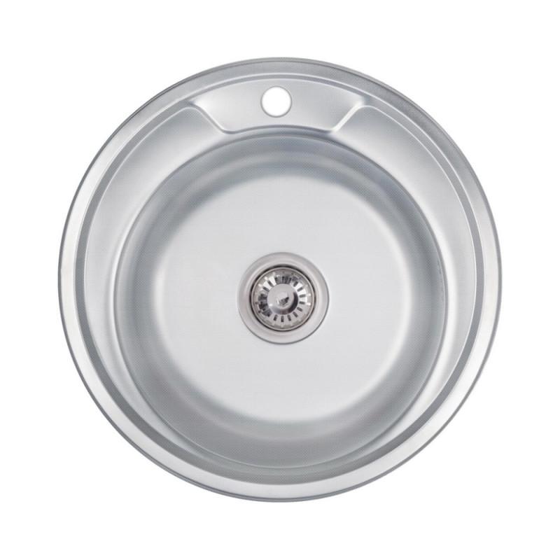 Кухонная мойка Lidz 490-A Decor 0,6 мм (LIDZ490А06DEC)