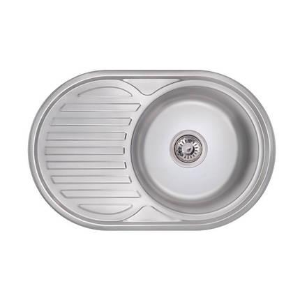 Кухонная мойка Lidz 7750 Polish 0,8 мм (LIDZ7750POL), фото 2