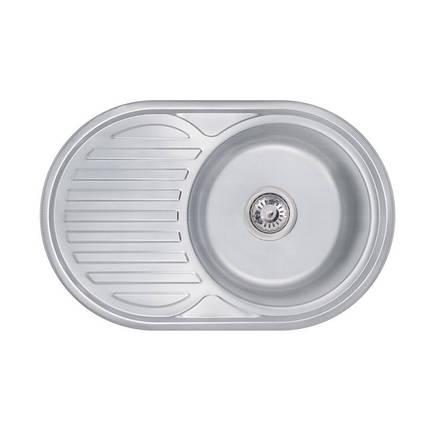 Кухонная мойка Lidz 7750 Decor 0,8 мм (LIDZ7750DEC), фото 2