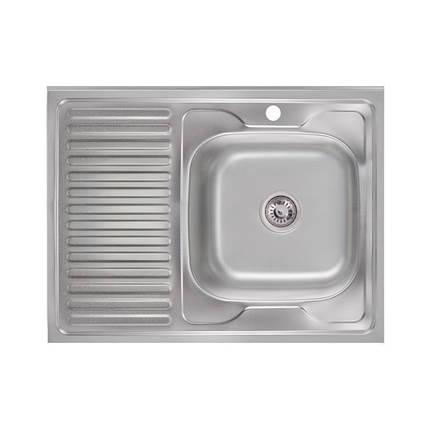 Кухонная мойка Lidz 6080-R Satin 0,6 мм (LIDZ6080R06SAT), фото 2