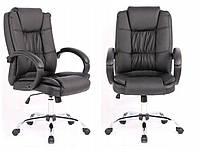 Офисное компьютерное кресло стул компьютерный WINGS Кресло руководителя Комп'ютерне крісло офісне ЧОРНЕ Польша