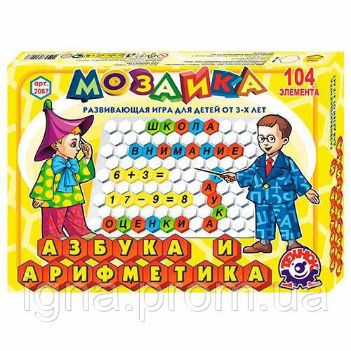"""Іграшка мозаїка """"Абетка та арифметика ТехноК"""" (рос)"""