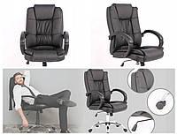 Компьютерное кресло из экокожи Офісне крісло Компютерне крісло офисное кресло ЧОРНОЕ компьютерный стул WINGS
