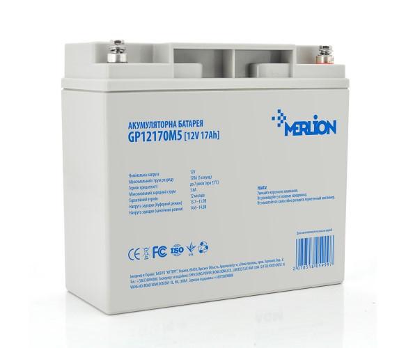 Аккумулятор AGM - 17 Ач, 12 В Гелевый Merlion GP12170M5 Q1