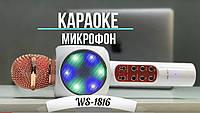 Караоке Микрофоны WS 1816 светодиодный - золотой.чёрный.белый WSTER+Подарок.