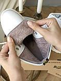 Женские ботинки Dr.Martens на меху белые(копия), фото 8
