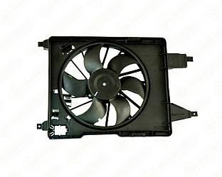 Вентилятор радиатора в диффузоре (380 mm) на Renault Kangoo II 2008-> - Polcar - 601223W3