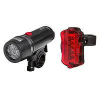 Велосипедный фонарь (комплект - передний и задний) FY-812, фото 1