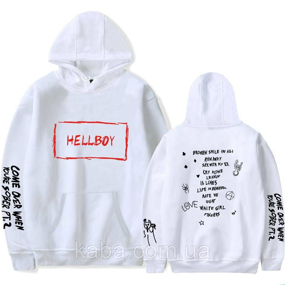 Худи Lil Peep Hellboy camo White унисекс