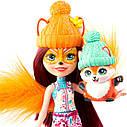 Куклы Enchantimals Энчантималс набор 5 кукол Снежный день с друзьями GXB20, фото 2