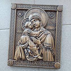 Икона резная из дерева. Владимирской Божьей Матери 3
