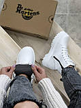 Женские ботинки Dr.Martens  белые(копия), фото 4