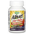 Мультивитаминный комплекс Alive! Max6 Daily, 90 растительных капсул, Nature's Way, фото 2