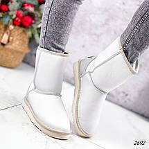 Угги женские белые кожаные ЗИМА, фото 3